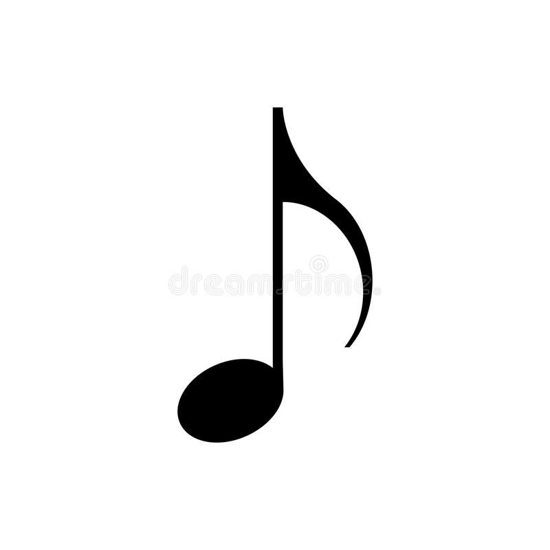 Note Music Melody Musical Sound Symbol Background Vector Illustration Isolated Graphic Clef Black Icon Key Design Sign Music Notes Icon Notes