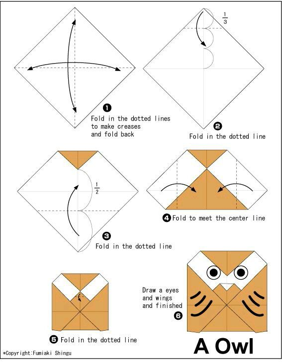 Owl Instructions How To Make Easy Origami Do