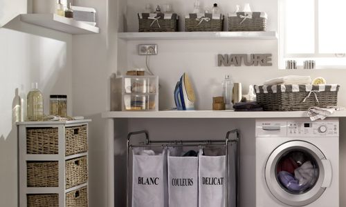 buanderie moderne | For home | Pinterest | Organizations, Laundry ...