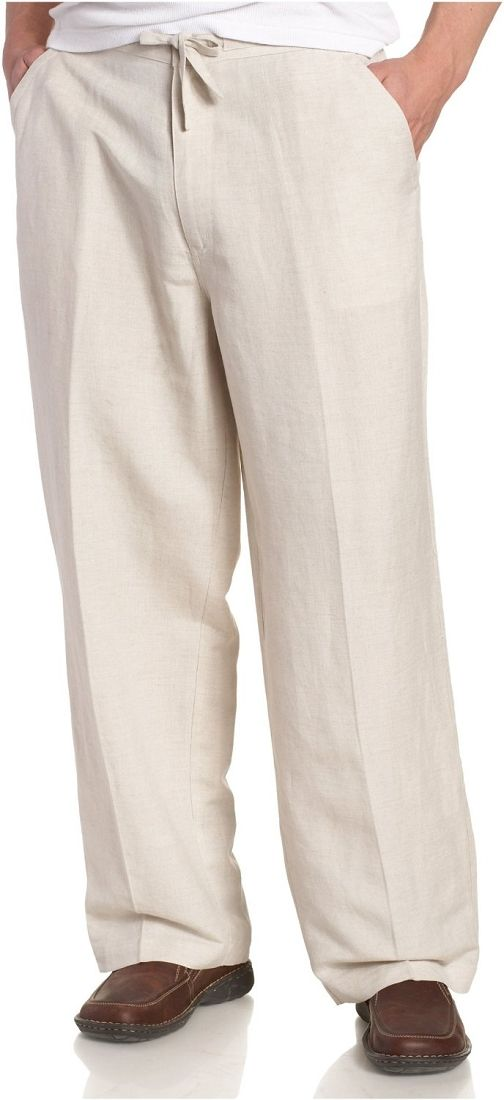 Men's Cubavera Drawstring Elastic Linen Pants - C850063 | wedding ...