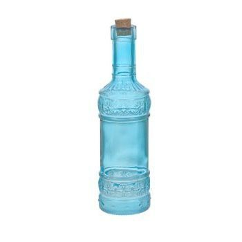 Decorative Bottles With Corks Endearing Decorative Vintage Multicolored Hermetic Glass Bottle With Cork Decorating Design