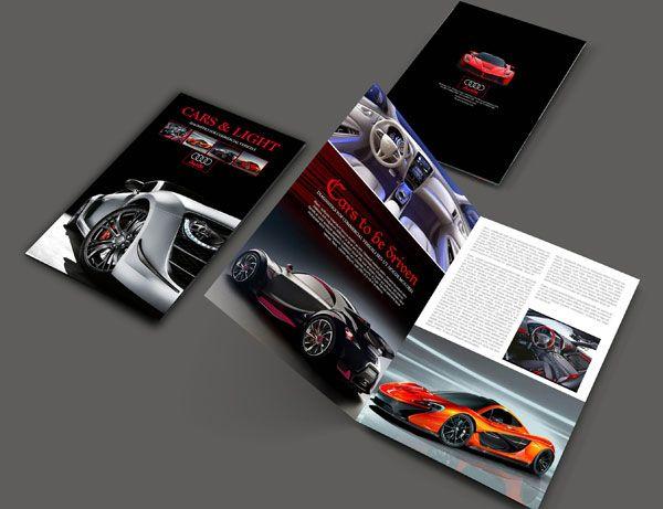A4 Cars Brochure Design Template Brochure Pamphlet Layout Design - pamphlet layout