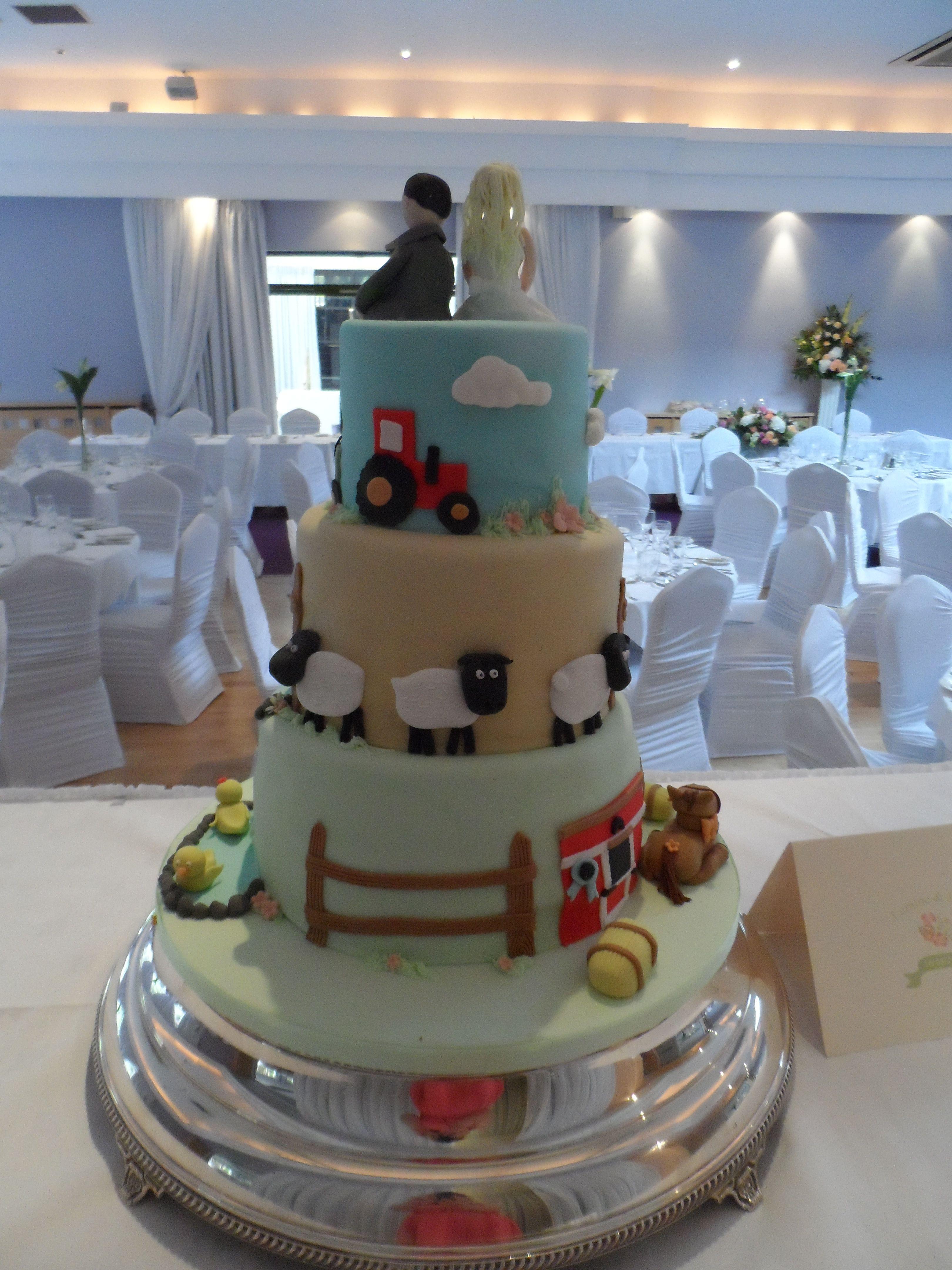 Farm Themed Wedding Cake Wedding Pinterest Themed Wedding