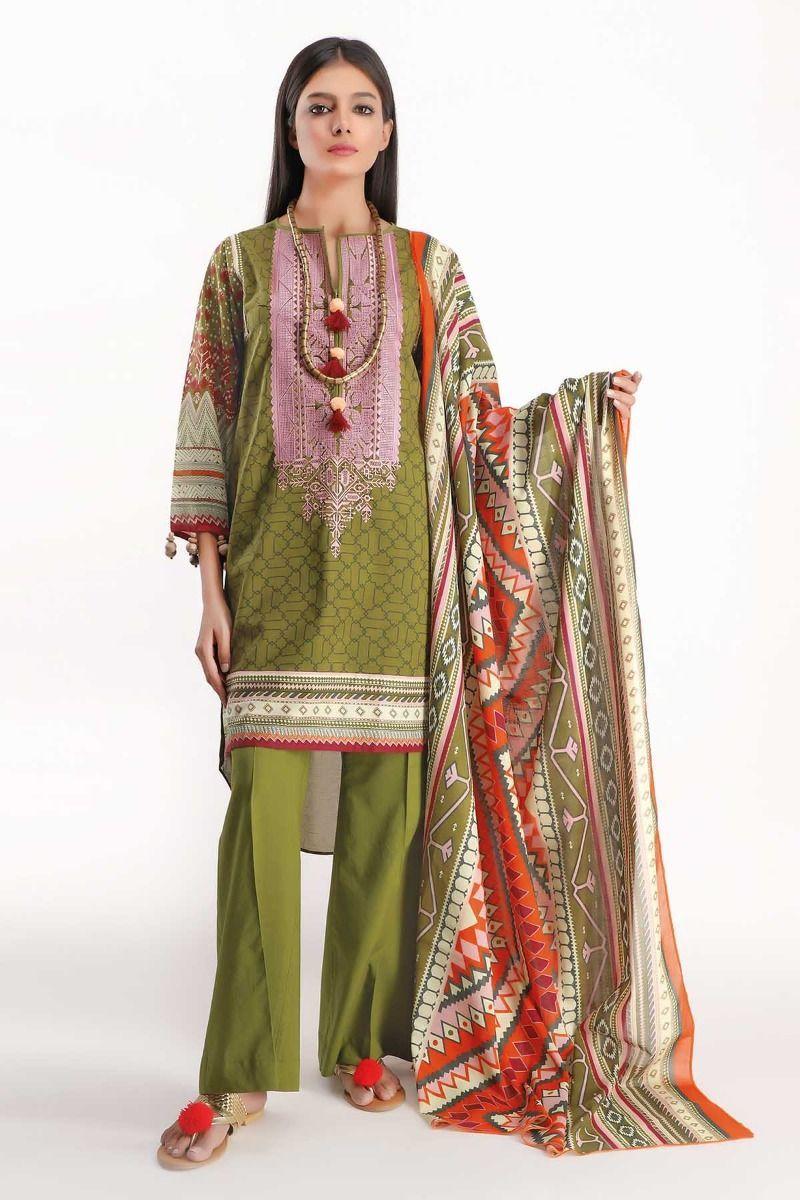 D21 Pakistani Indian Women Digital Print Stylish Silk Kurti