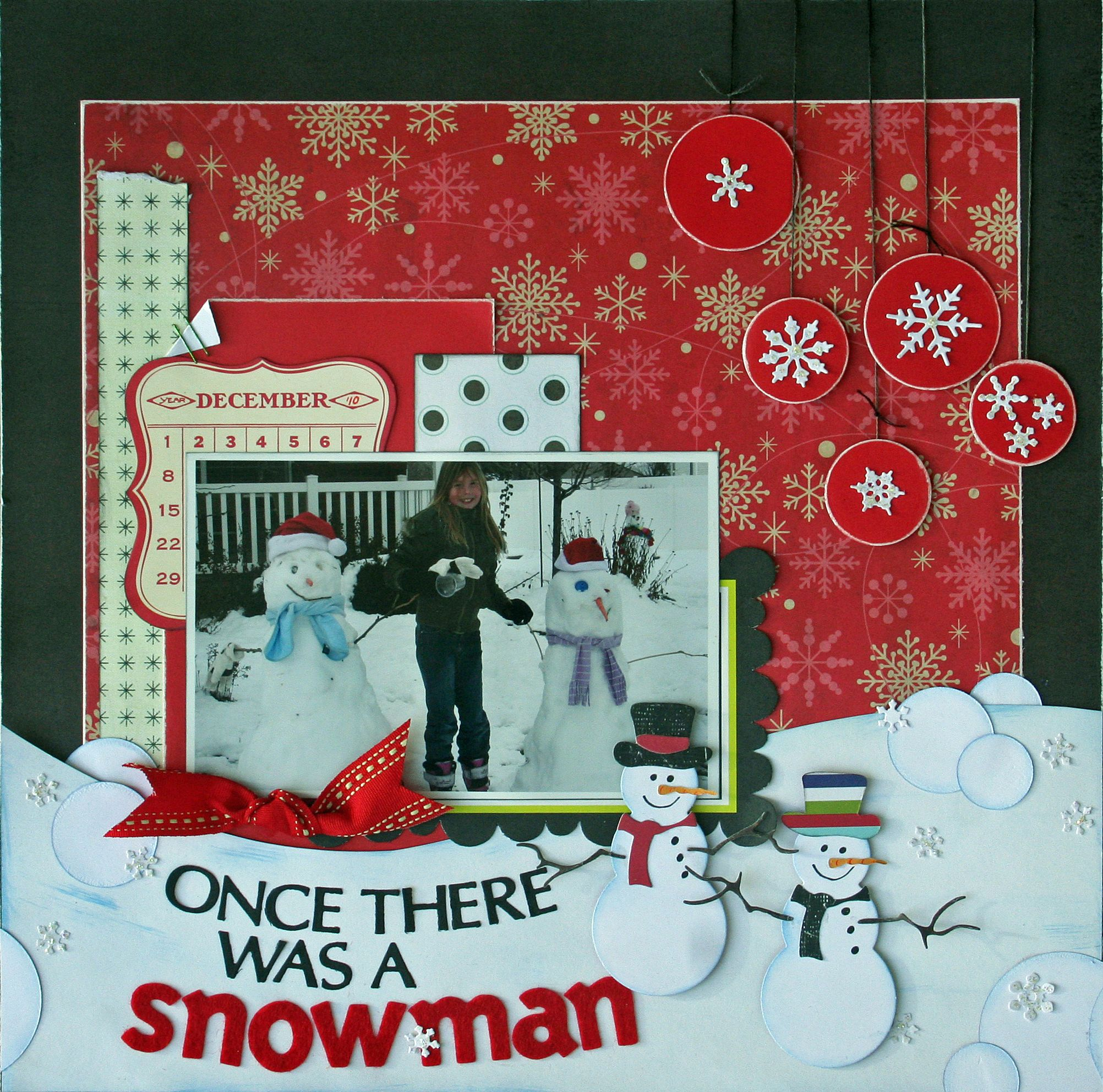 once there was a snowman cheery lynn designs