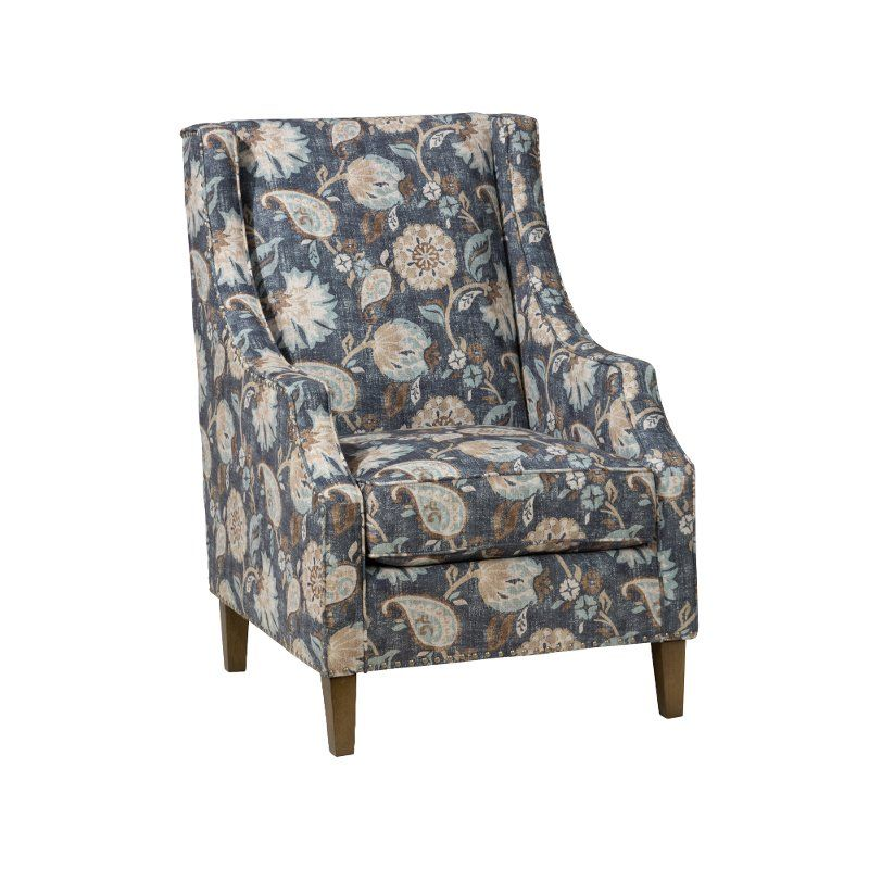 Jacey Indigo Swivel Accent Chair: Indigo Blue Traditional Accent Chair - Westbrook