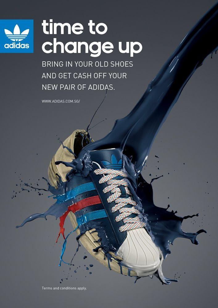 adidas shoes advertising poster food 571609