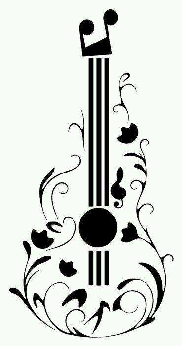 I Love Music Guitar Tattoo Design Music Drawings Fancy Music
