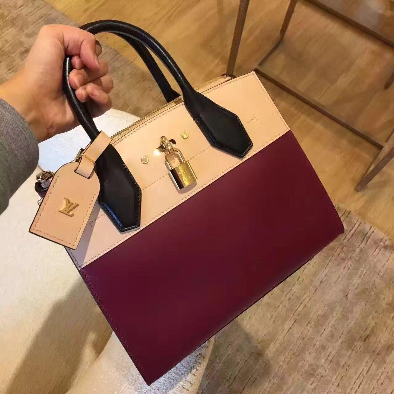 c1b08798c10 Louis Vuitton City Steamer PM Bag M42620 Bordeaux Beige | Louis ...