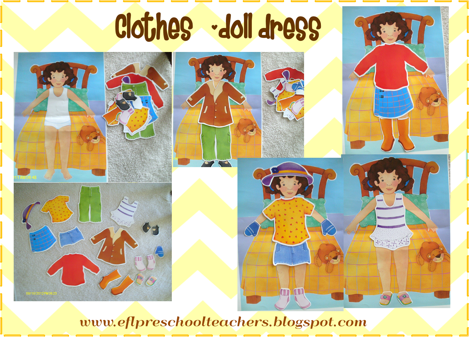 Esl Efl Preschool Teachers Clothes Theme Just Display The