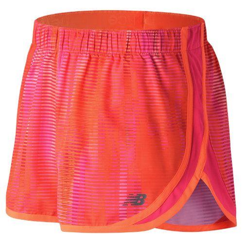22f2704637 New Balance 53163 Women's Accelerate 2.5 Inch Printed Short - Orange/Black  (WS53163VTA)