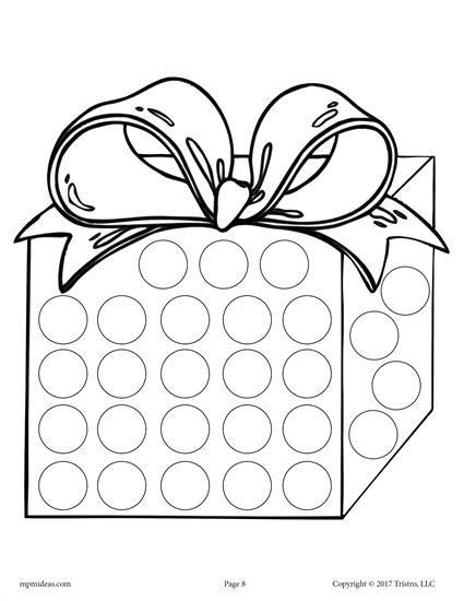 10 Christmas Do A Dot Printables Preschool Christmas Do A Dot December Crafts