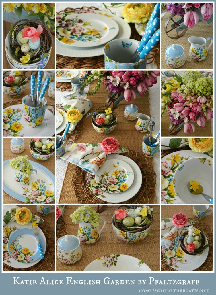 Welcome Spring tablescape with Katie Alice English Garden by Pfaltzgraff Home is Where the Boat Is Therapy for the Table: Katie Alice English Garden Welcome Spring tablescape with Katie Alice English Garden by Pfaltzgraff | Home is Where the Boat IsWelcome Spring tablescape with Katie Alice English Garden by Pfaltzgraff | Home is Where the Boat Is