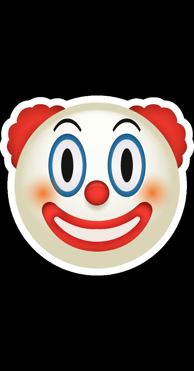 Clown Emoji Sticker Emoji Stickers Emoji Cute Stickers