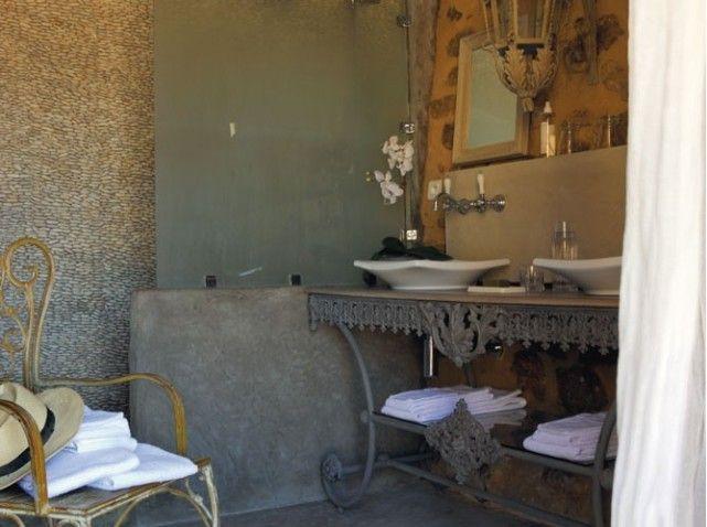 salle de bains du Clos Saint-Saourde DECO Pinterest - meuble salle de bain fer forge
