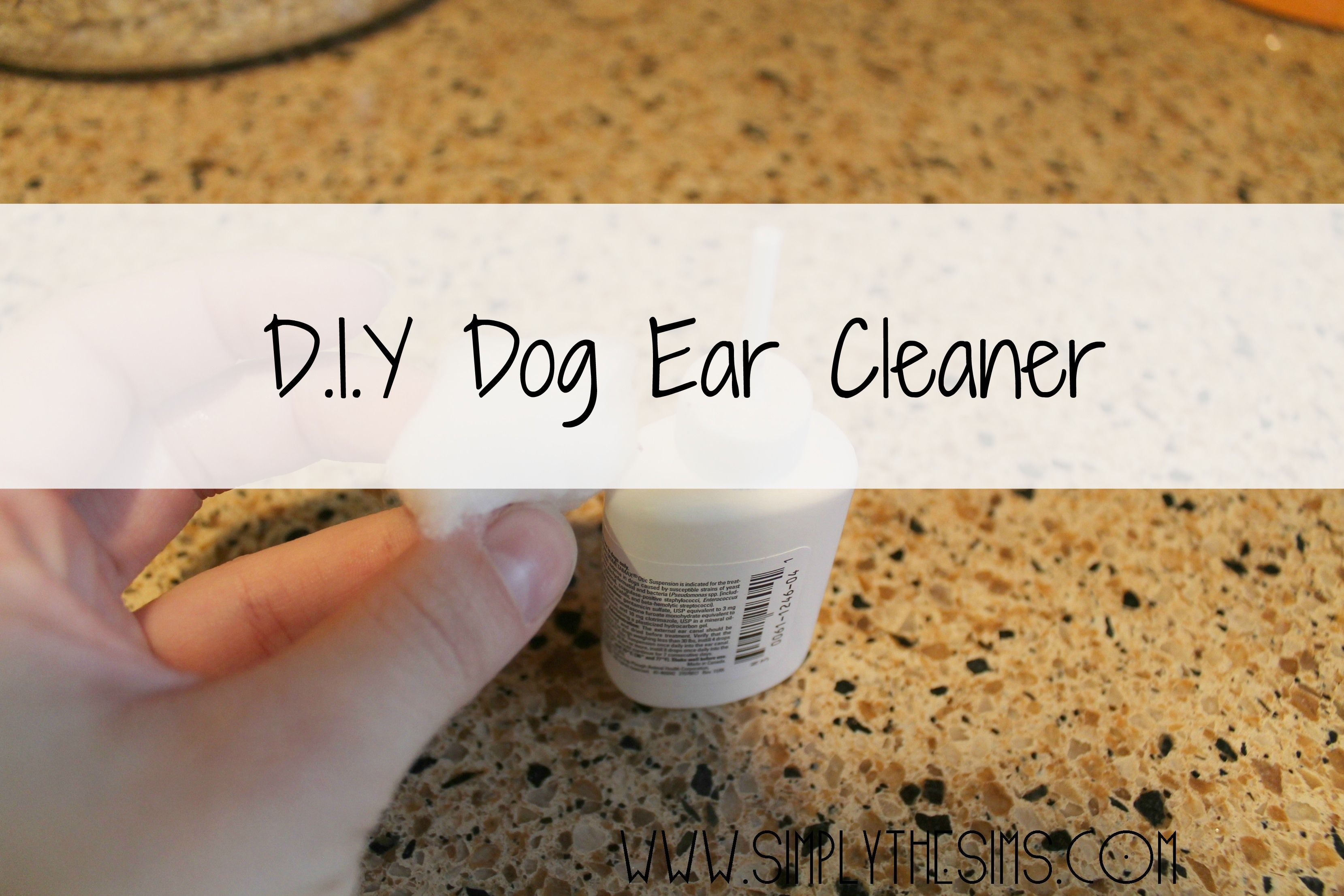 Dog Ear Cleaner distilled white vinegar, water and tea
