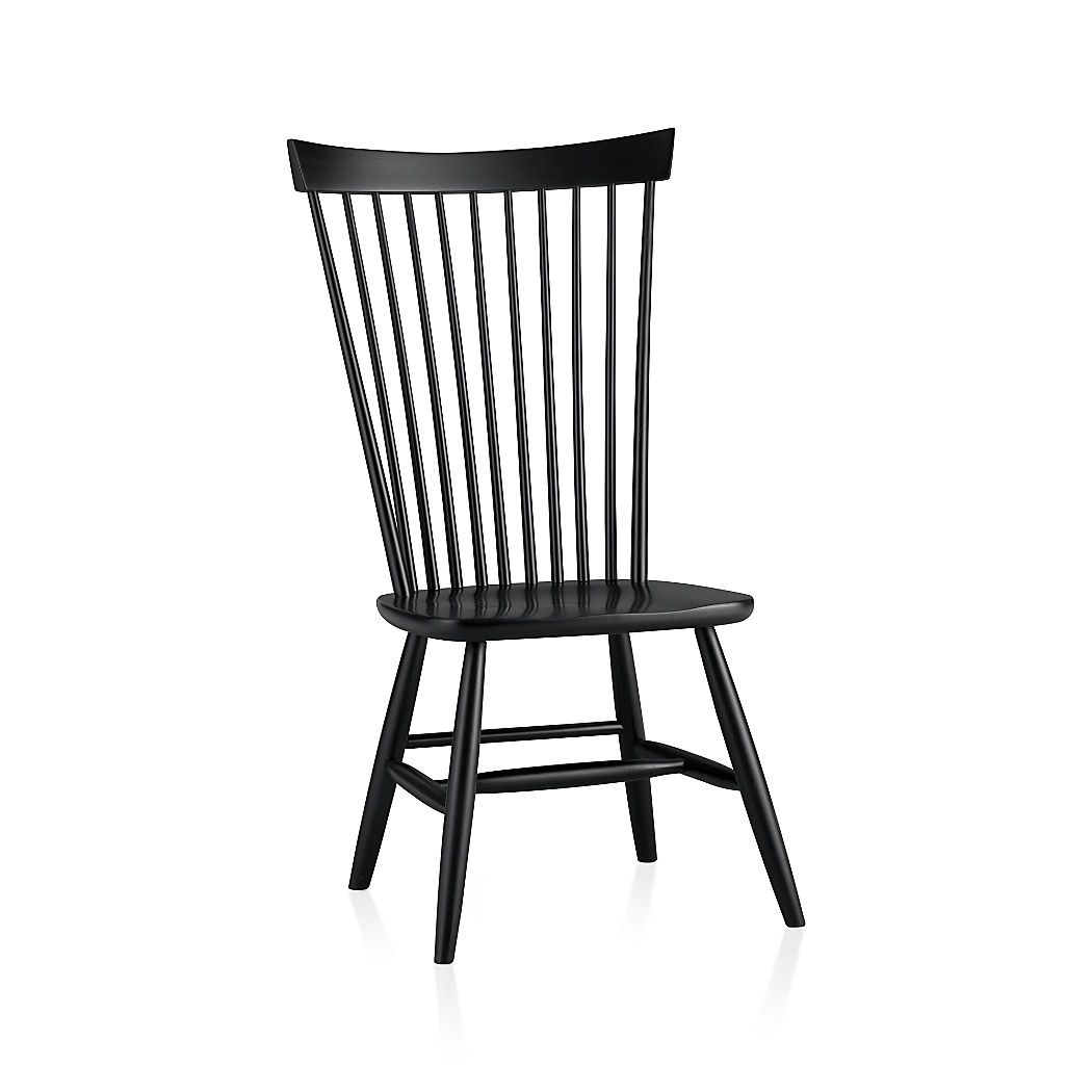 Marlow II Black Wood Dining Chair | Crate and Barrel | Beach house ...