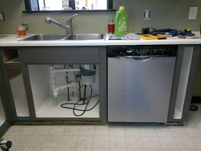 Installing A Full Size Dishwasher In Old Shallow Cabinets Shallow Cabinets Building A Kitchen Dishwasher Cabinet