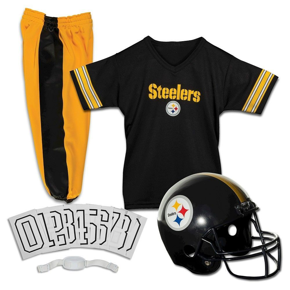 Franklin Sports NFL Pittsburgh Steelers Deluxe Uniform Set, Kids Unisex, Size: Medium