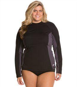 ce72391d02 Speedo Women's Endurance L/S Plus Size Rashguard Plus Size Swim Shirt, Swim  Shop