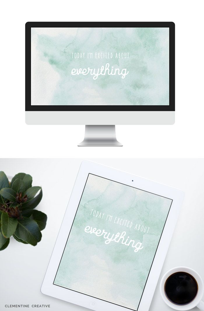 Today Im Excited About Everything A Free Watercolor Wallpaper Download Here For Desktop Tablet And Phones