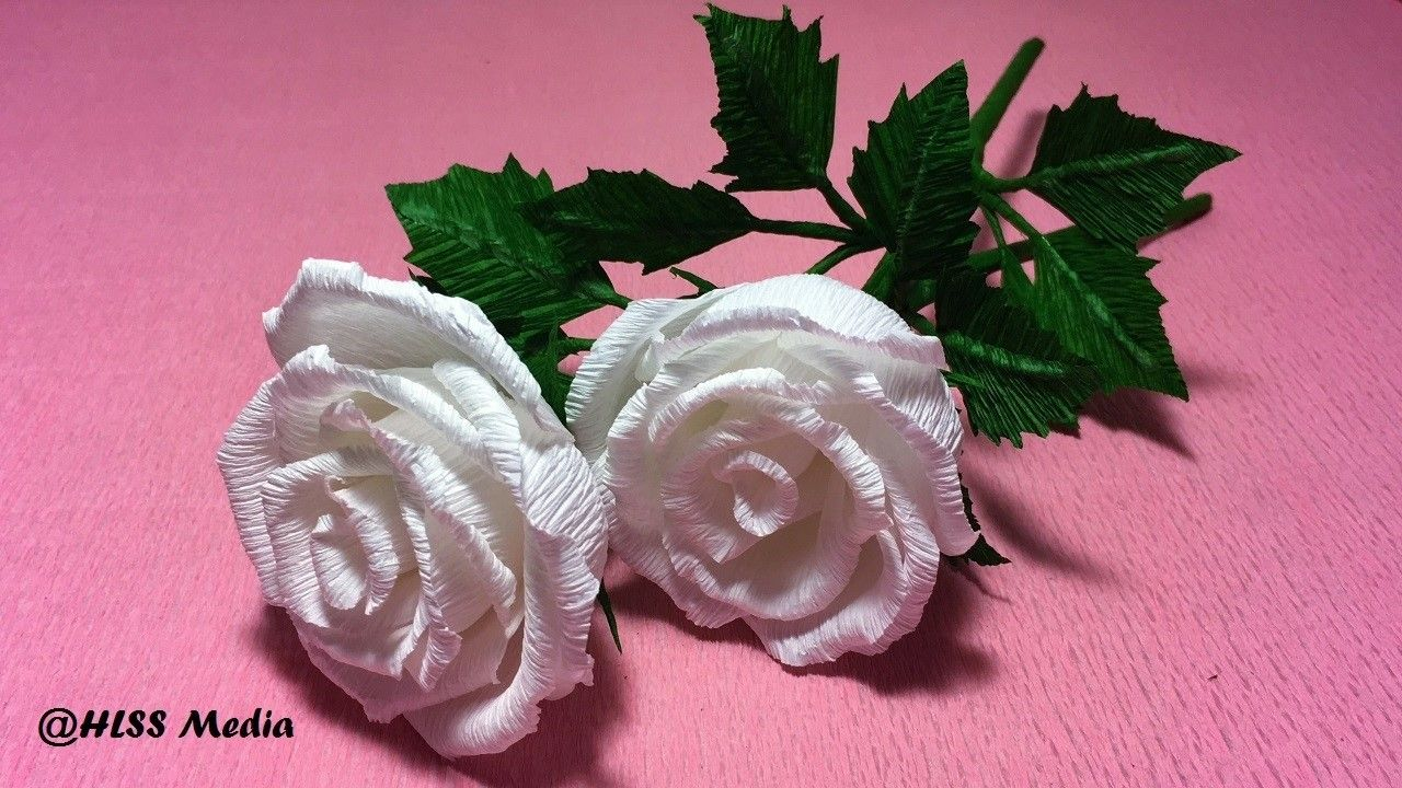 How To Make Rose Flower By Crepe Paper Origami Paper Flower