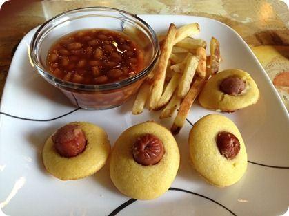 Baked Mini Corn Dog Muffins