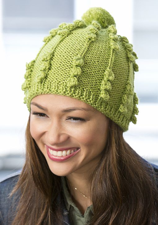 One Skein Knitting Patterns Pinterest Bobble Hats Knit Patterns
