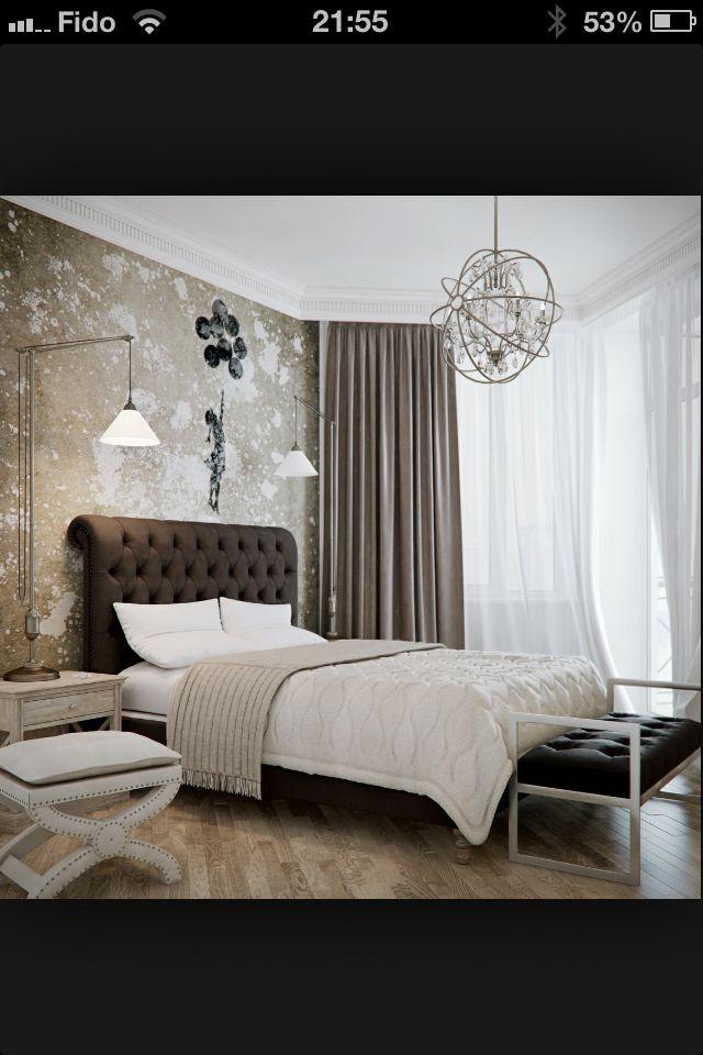 Love the wallpaper Design/decor Pinterest