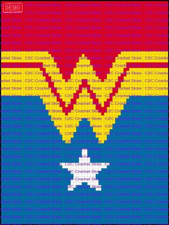 4 Name Crocheting C2c Wonder Woman Suit Graph