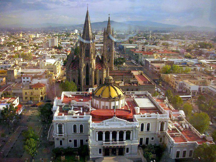 guadalajara  mexico from the university to the expiatorio
