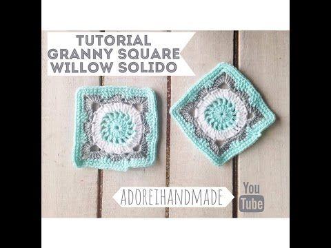 CROCHET Willow Granny Square solido para manta Video 1 - YouTube ...