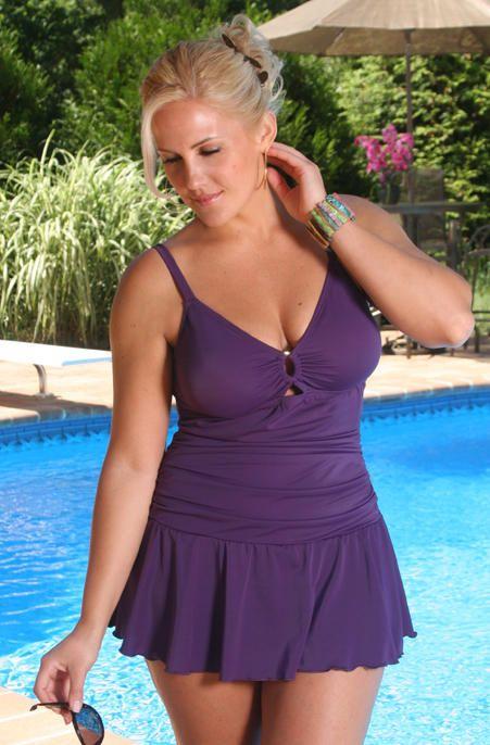 0cc8da3f58e69 Women s Plus Size Swimwear - Always For Me Chic Solids Illusion Swimsuit