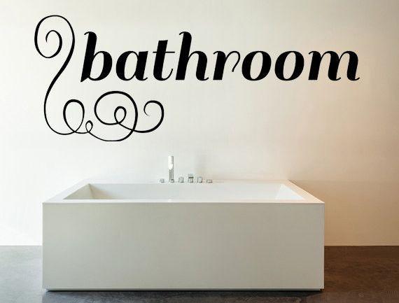 Bathroom Vinyl Wall Decal   Bathroom mural, Bathroom vinyl and ...