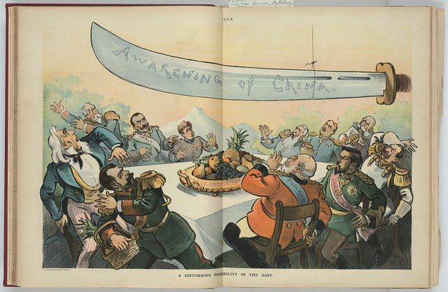 Puck Cartoon of Boxer Rebellion in China: A Disturbing Possibility in the East