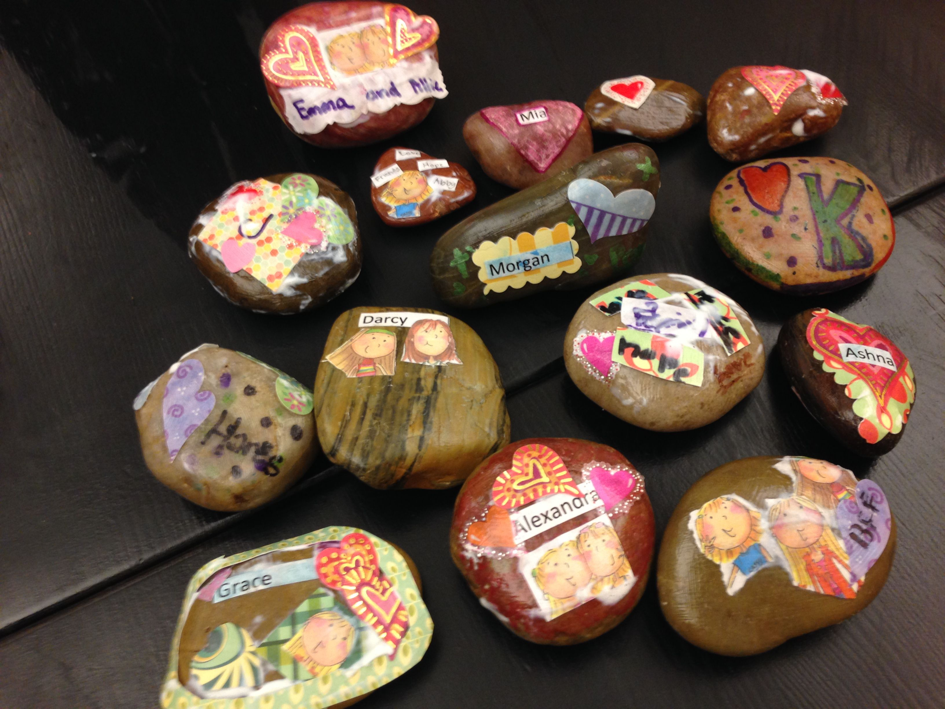 Prayer Rocks Made By The 4th And 5th Grade Girls