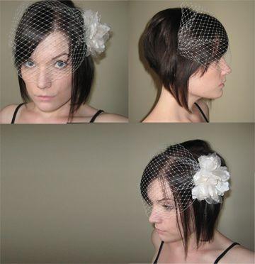 angled bob wedding hairstyle
