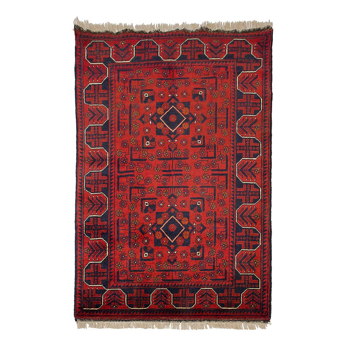 Teppich Afghan Khal Mohammadi   Rot   130 X 200 Cm, Parwis Jetzt Bestellen  Unter