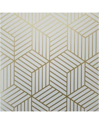 York Geometric Gold Hexagon Peel and Stick Mid Century