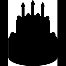 FREE SVG Birthday Cake Silhouette