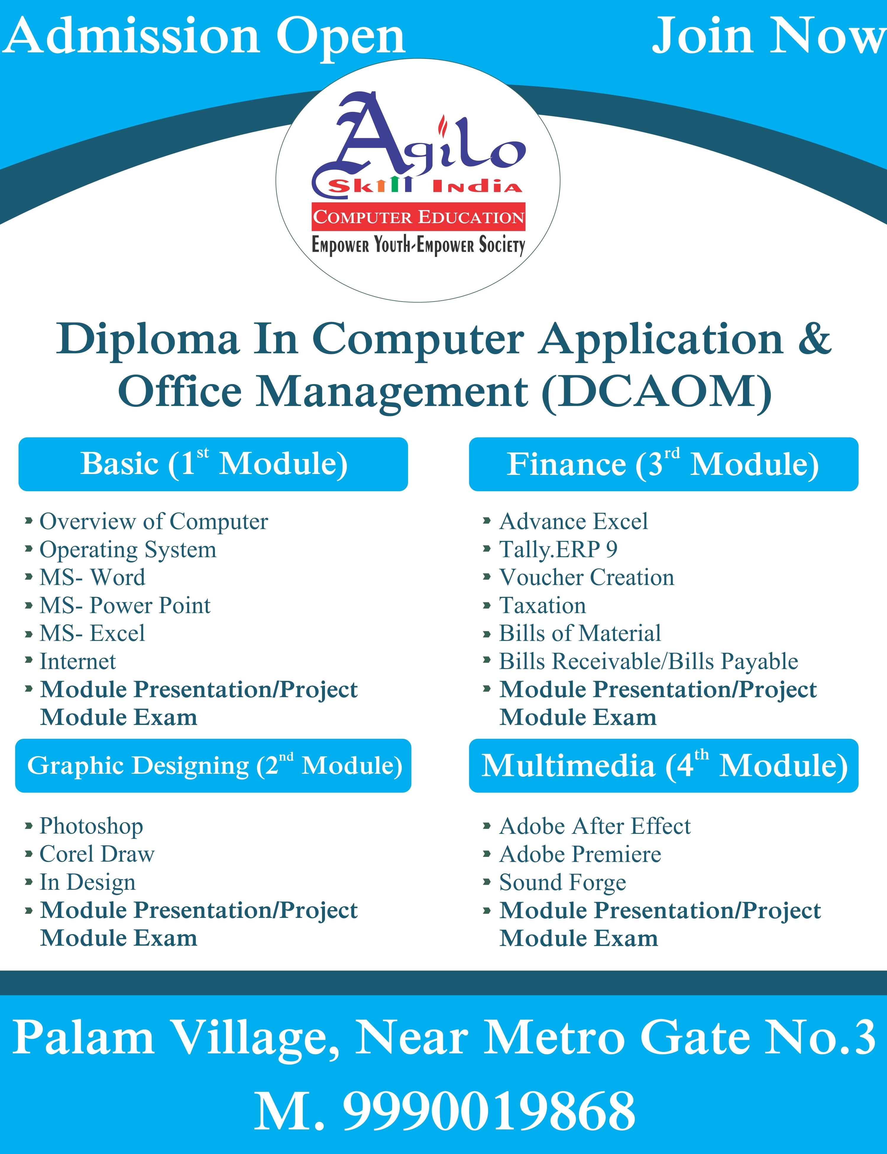 Computer Application Office Management Course Computer Education Social Media Optimization Computer Basic