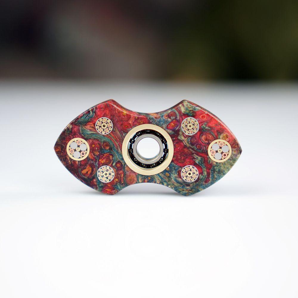 Stabilized Wood Torqbar Hand Spinner Fingertip Finger Top Gyro Toys Ckf Fidget Or Edc Handspinner Spiral Triangular
