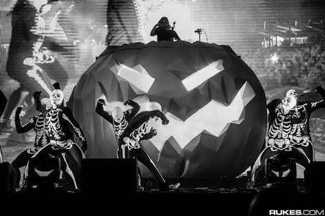 Concierto de Skrillex  especial de hallowhin 2015 #skrillex❤
