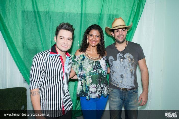 Foto do show da dupla Fernando e Sorocaba realizado em Cachoeiro de Itapemirim/ES no dia 26-04-2014