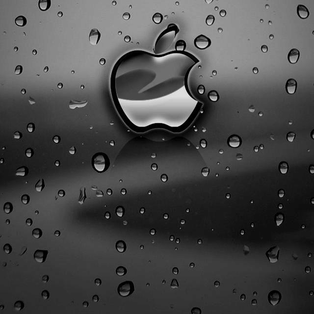 Dark Rainy Apple Hd Wallpaper Iphone Apple Wallpaper Apple