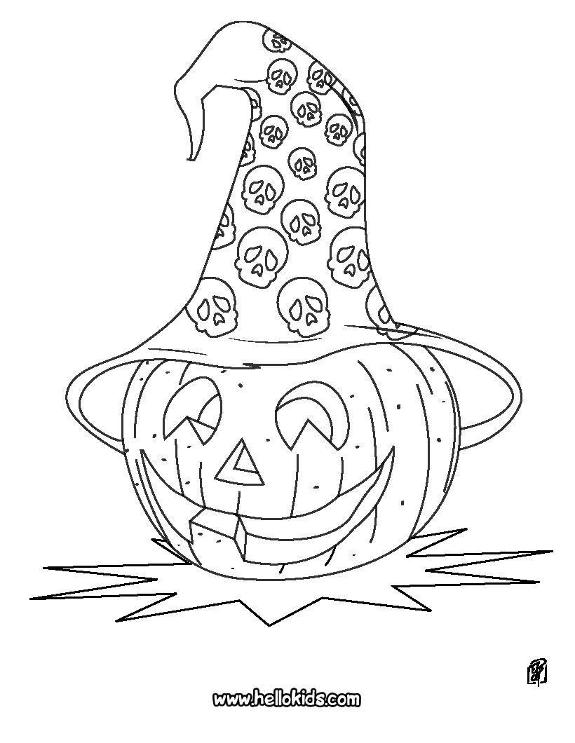 Pumpkin head. Halloween pumpkin head coloring page ... | Coloring ...