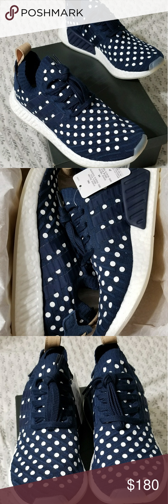 e38c3bada Adidas NMD R2 PK Polka dot New in original box Adidas nmd r2 primeknit  polka dot women s size 8.5 never been worn. Deadstock. adidas Shoes Sneakers