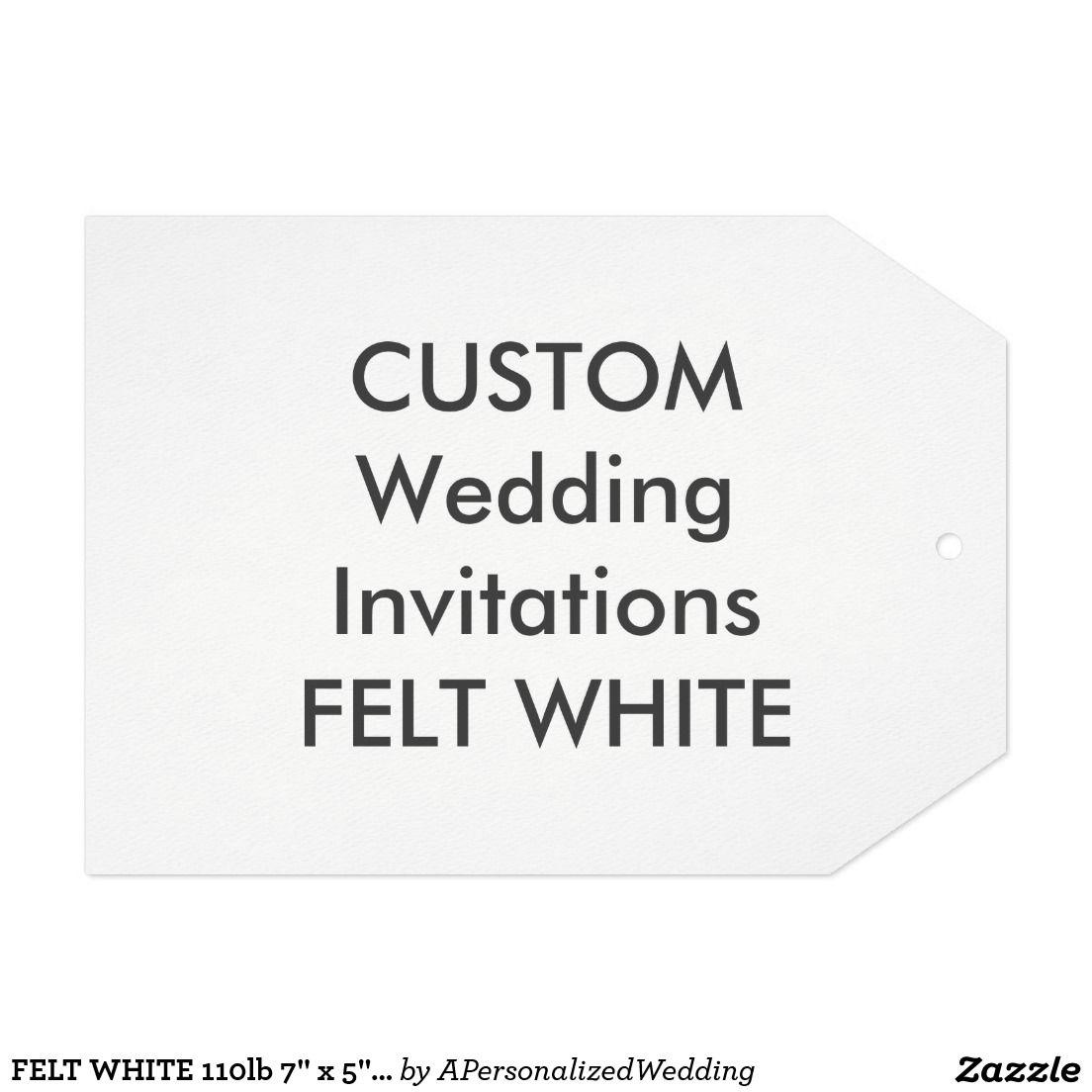"""FELT WHITE 110lb 7"""" x 5"""" Tag Wedding Invitations"""