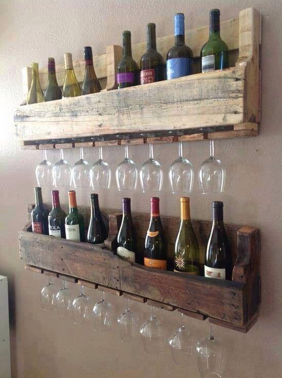 mensole porta vino e bikkieri..ideali x fare da sfondo ad un mobile ...