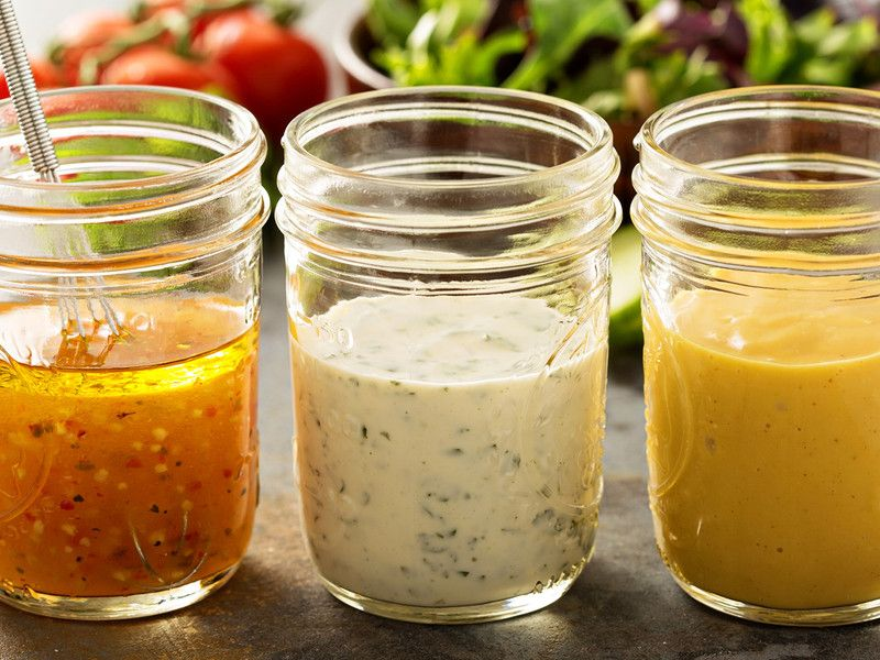 3 Rezepte für kalorienarme Salatdressings | Salatdressing, Salat ...